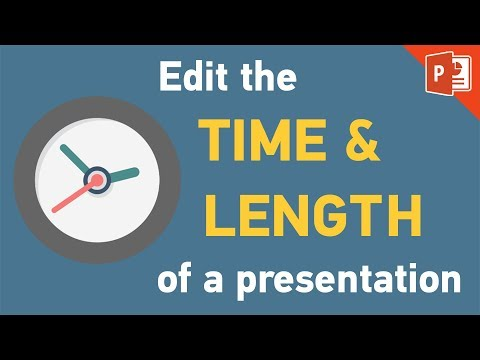 PowerPoint 2013 | How to set time duration & edit slide length tutorial