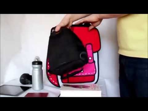 2D Backpack in Red - 2D Bags