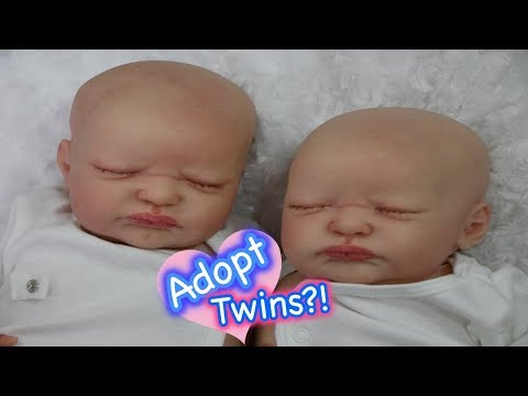 Reborn Baby Doll Twins for Adoption! More Cute Babies from All4Reborns Adoption Center!
