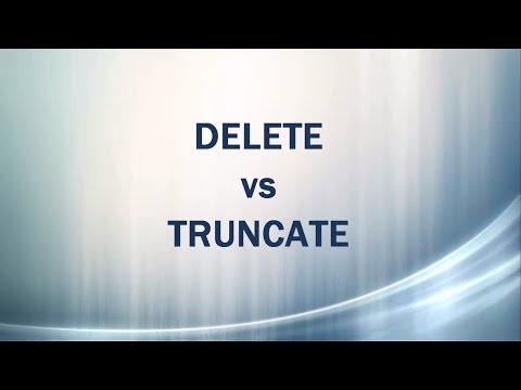 Delete vs Truncate - similarities and differences in SQL Server