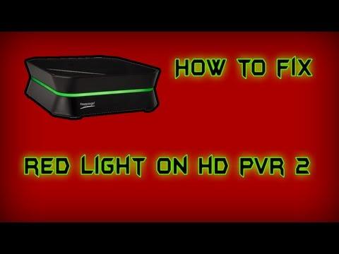 How To Fix HD PVR 2 Red Light ( Black Screens )