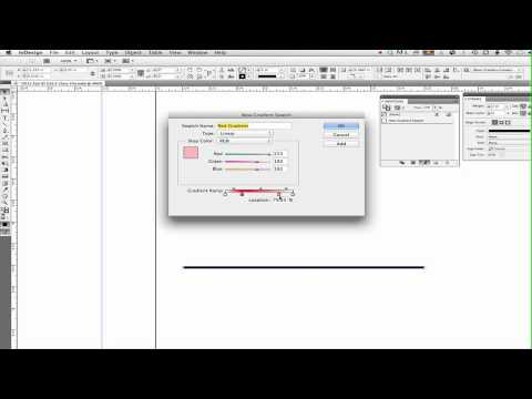 InDesign — Create Gradient Swatch To Fade Ends Of A Line Segment