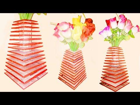 How to make Flower Vase || flower Pot making || DIY easy craft