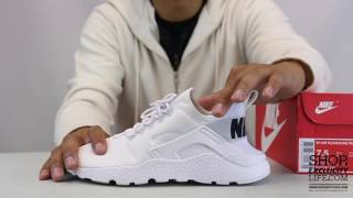 18e0ab4d7dba1 Women s Huarache Run Ultra Black White On feet Video at Exclucity ...