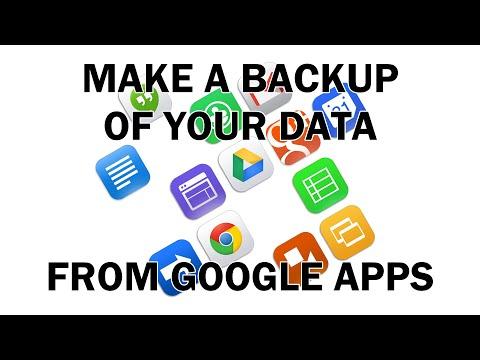 Make A Backup Of Google Apps