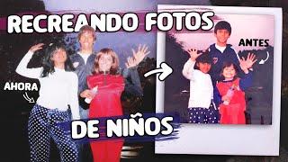 IMITAMOS FOTOS DE NUESTRA NIÑEZ  | LOS POLINESIOS