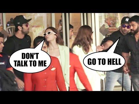 Xxx Mp4 Ranbir Kapoor Amp Alia Bhatt BROKE UP Seen In NON TALKING State At AIRPORT 3gp Sex