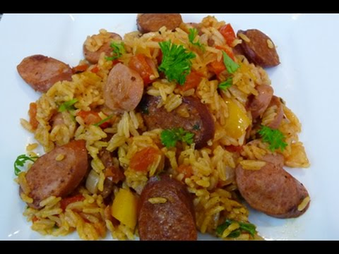 Chorizo and Sausage Jambalaya Recipe (Easy and delicious) how to,