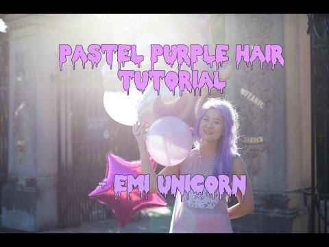 How to dye your hair pastel purple on asian hair  - Emi Unicorn