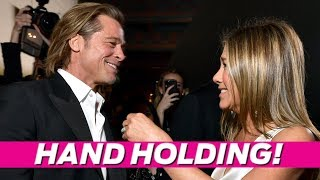 Here's What Happened Backstage Between Brad Pitt & Jen Aniston At The SAG Awards