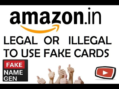 Is it legal to use fake credit cards(exposed)?{HINDI}