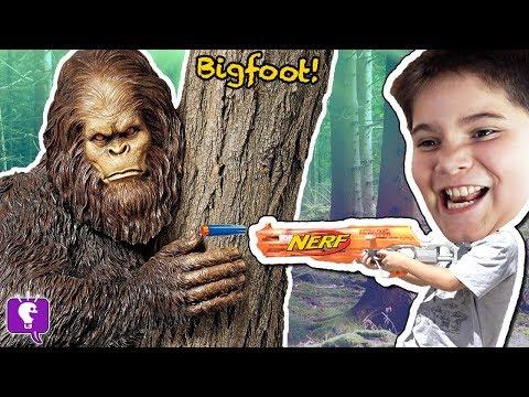 BIGFOOT Adventure MYSTERY Toy Surprises + VIDEO Gaming with HobbyKidsTV