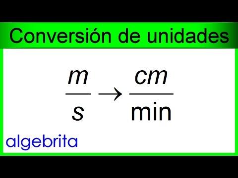 Convertir metros por segundo a centímetros por minuto, m/s a cm/min, Conversión de rapidez 423