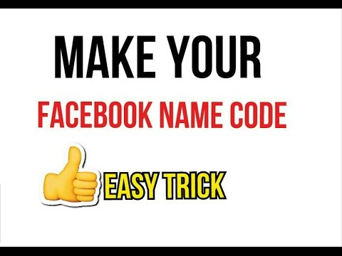 How to make facebook beautiful name code in easy steps..