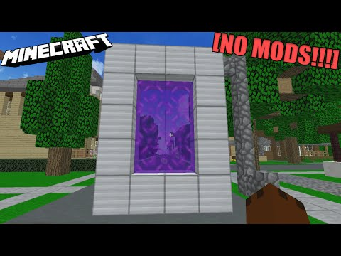Minecraft - How to make a Portal to HEAVEN! (No mods)