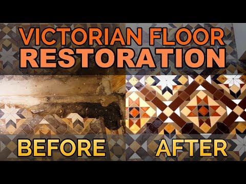 Victorian Floor Tiles - Full Victorian Tile Restoration of a Victorian Tiled Floor in Newport