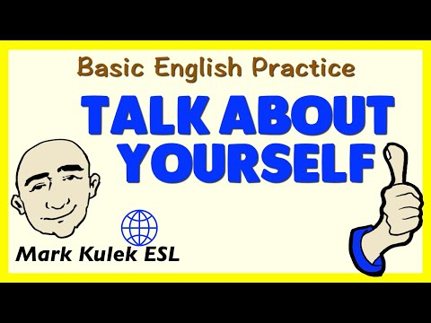 Talking About Yourself | English Speaking Practice | ESL | EFL