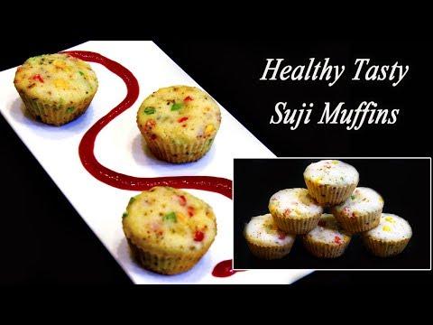 Suji Muffins | Easy and Healthy Breakfast Recipe | MadhurasRecipe | Ep - 636