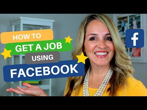 How To Get A New Job Using Facebook - Facebook Job Search Tips