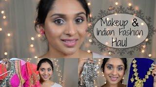 Makeup & Fashion Haul: Anarkali Suits & Indian Jewellery