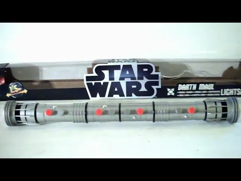 STAR WARS Darth Maul Double Bladed Lightsaber Toy Review | DarkLordSaxon