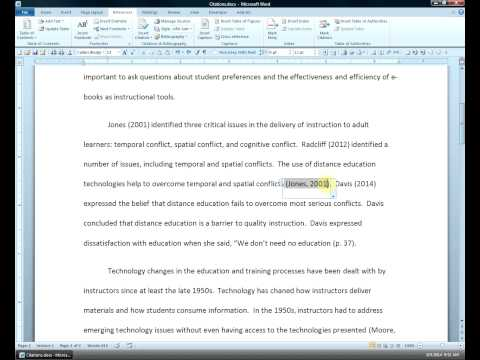 Multiple Sources and Reference List in Microsoft Word