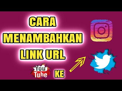 Cara menambah dan menyimpan link URL channel youtube ke instagram dan twitter