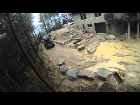 Natural Stone Landscaping Time-Lapse