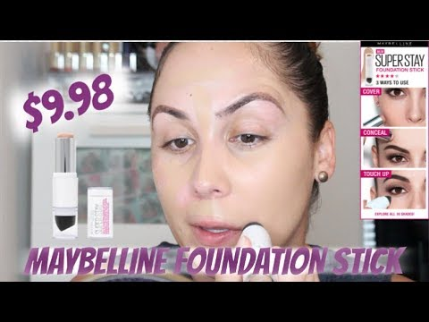 NEW MAYBELLINE SUPER STAY MULTI-USE STICK FOUNDATION   SPEND YOUR COINS OR NAHH??!!