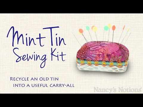 Mint Tin Sewing Kit: this scrappy project holds your sewing essentials