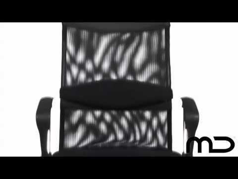 Mesh Ergonomic Office Chair Black - High Back - From Milan Direct AUS