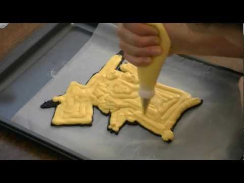 Frozen Buttercream Transfer -- Pikachu Pokemon Cake by  Cookies Cupcakes and Cardio