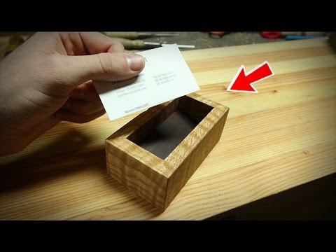 Super Simple DIY Business Card Holder!