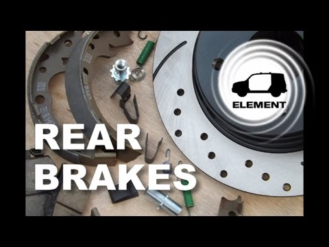 Rear Brakes and Emergency Brakes Installation on a Honda