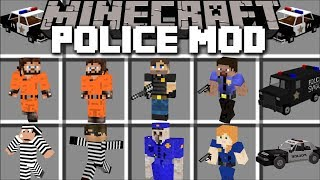 Minecraft POLICE MOD / FIGHT CRIME AND KILL PRISONERS THAT ESCAPE PRISON!! Minecraft