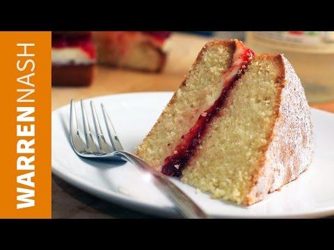 Victoria Sponge Cake Recipe - British Classic - Recipes by Warren Nash