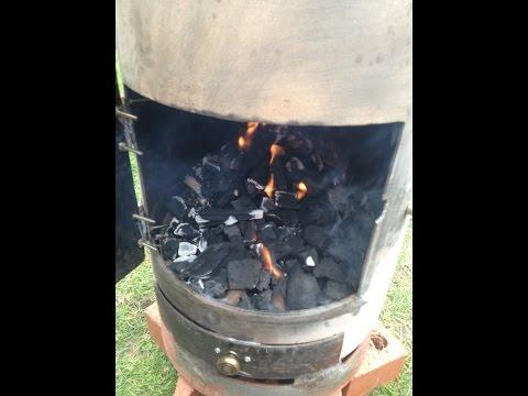 Gas bottle log burner in two hours