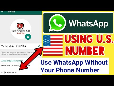 How To Create Whatsapp Account Without Your Mobile or Phone Number | Whatsapp Using U.S. Number