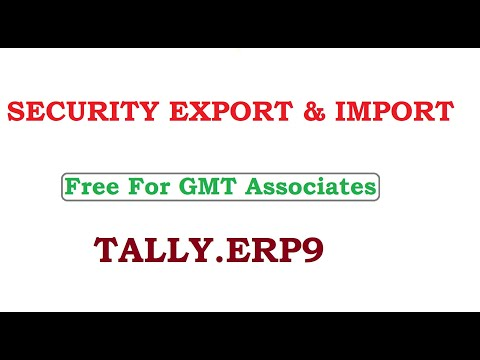 Security Export & Import