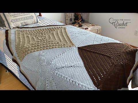 Crochet Stitch Along Sampler Afghan - Full Tutorial