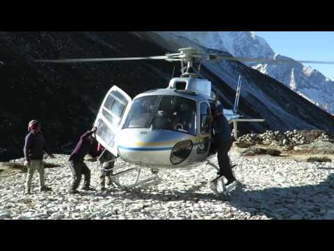 Chopper Rescue from Dingboche Everest for Altitude Sickness