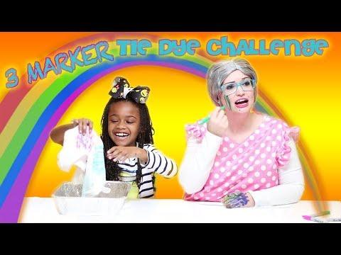 Greedy Granny  IRL 3 Marker Tie Dye Challenge!