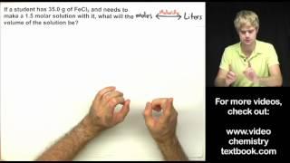 Molarity Practice Problems Part 2