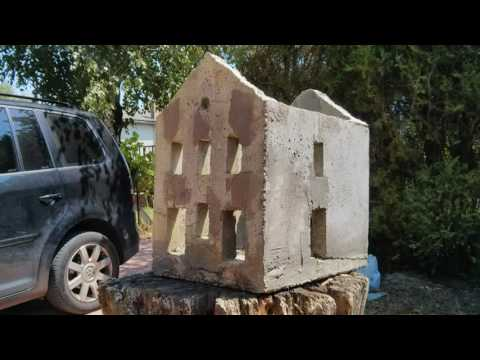 Making model buildings out of concrete