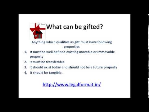 Gift deed Format and its Registeration