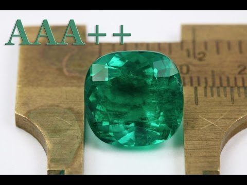 Grade AAA++ Dark Green Colombian Emerald Investment Cushion Cut Loose Gemstone