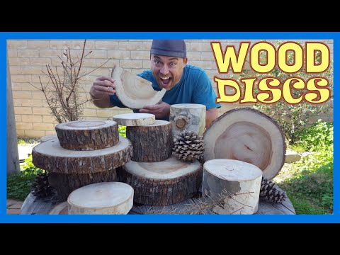 Make Wood Slice Centerpieces - Wood Tree Round Projects