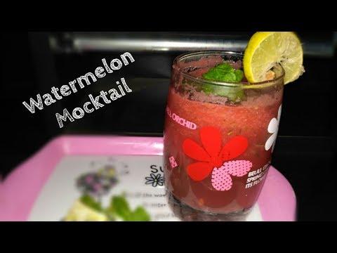 Watermelon mocktail  watermelon mojito Summer drink