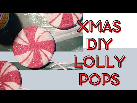Christmas DIY - Lollipop Candy tree ornaments
