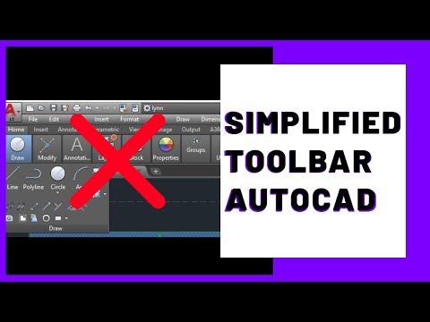 Quick Access Toolbar| Autocad Ribbon & panels